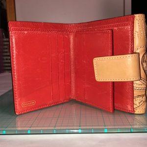 Coach Bags - Rare Coach 41238 Floral Wallet.